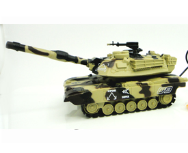 1:32 SCALE 2CH WIRED CONTROL SIMULATING BATTLE TANK