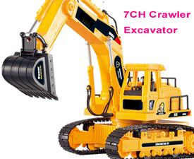 GPTOYS 7CH RC Crawler Excavator with lights