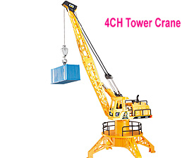 GPTOYS 4CH RC Tower Crane with lights