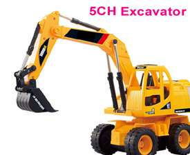 GPTOYS 5CH RC Excavator with lights