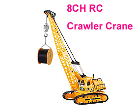 GPTOYS 8CH RC Crawler Crane with lights