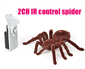 GPTOYS  2CH IR control flocking spider with lights