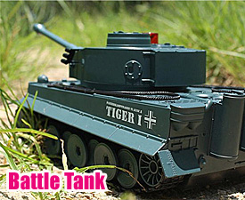 GPTOYS Radio control  Infrared battle tank with auto-demo function - TIGER I