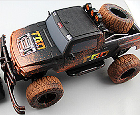 GPTOYS 1:10 4CH RC control MUD truck with car lights