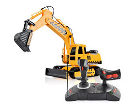 GPTOYS  1:18 5CH RC Bulldozer & Excavator with lights and auto-show function
