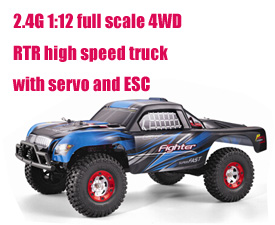 GPTOYS 2.4G 1:12 full scale 4WD RTR high speed truck with servo and ESC