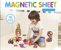GPTOYS 46pcs DIY 3D Multicolour Magnetic Blocks Construction Building Kids Toy Puzzle