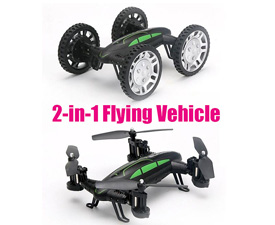 GPTOYS 2.4G 2-in-1 4WD flying vehicle