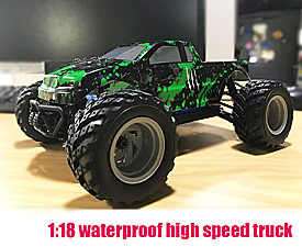 GPTOYS 2.4GHz 1:18 Scale 4WD Waterproof  Electric Powered  Truck